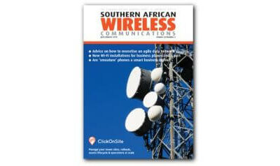 ClickOnSite on cover of Southern African Wireless Communications (July/August 2019)